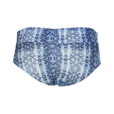 LingaDore Beach Indigo Short Foldable Waist Jeans Print