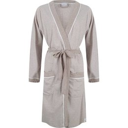Pastunette Dressing Gown Long Sleeves Beige-Stripes