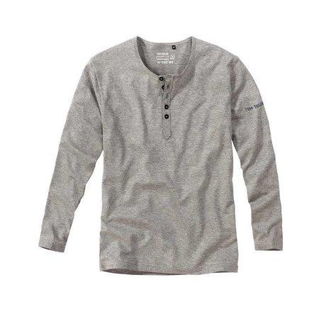 Tom Tailor Bottoms-Down Shirt Long Sleeves Darkgrey Melange