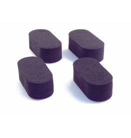 4X Soft pads voor onder drone (zwart of oranje)