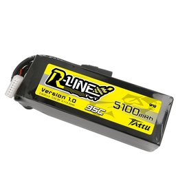 Genspow 2X Tattu R-Line 22.2V 5100mah 6S 95C FPV Lipo Battery with AS150 Plug