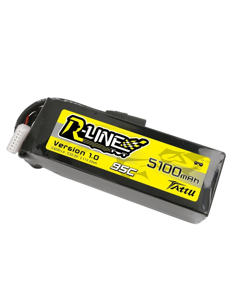 Genspow X-CLASS 2X Tattu R-Line 22.2V 5100mah 6S 95C FPV Lipo Battery with AS150 Plug