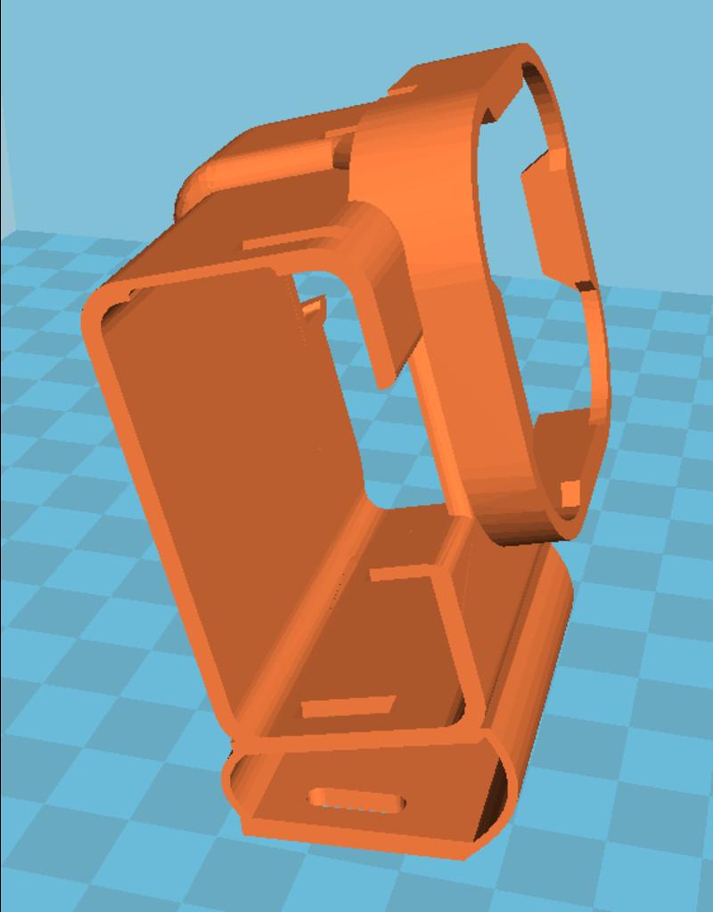 3D print Gopro Hero 8 gedempte houder voor + polar pro filter
