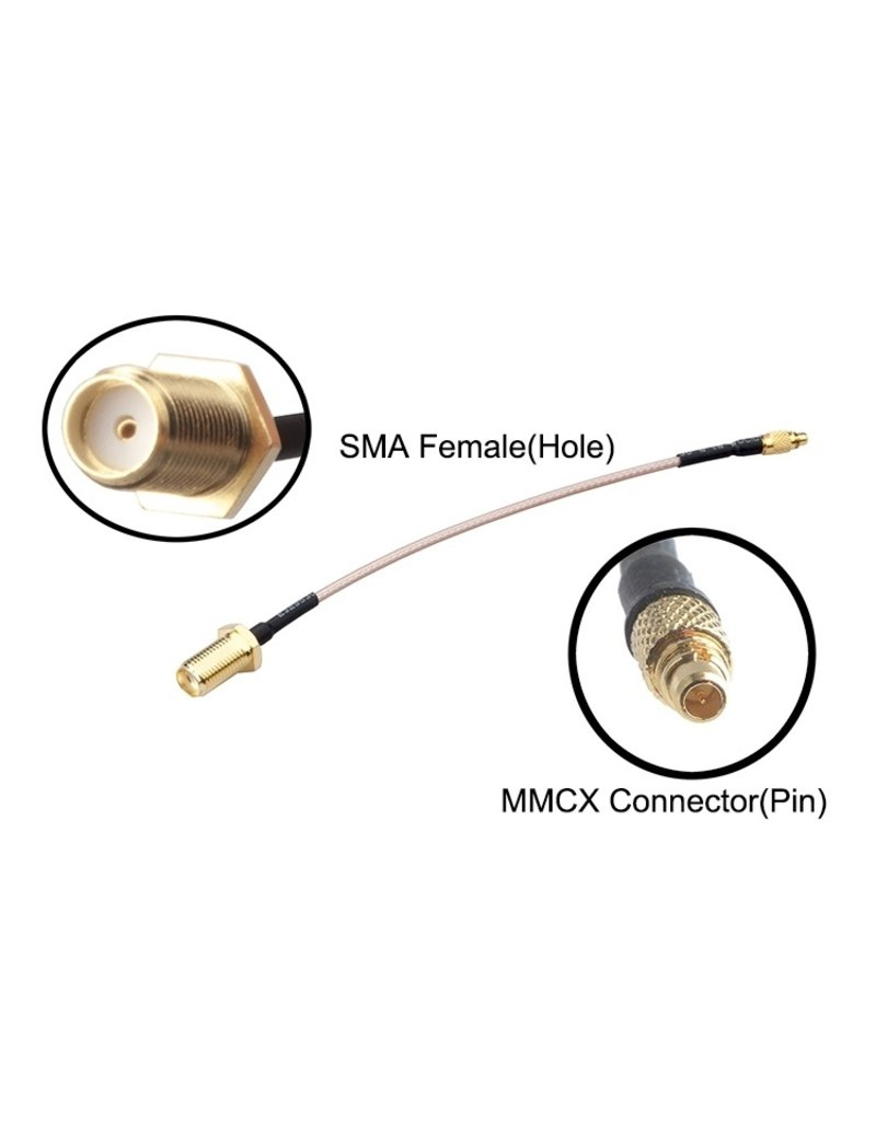 Speeddrones MMCX - SMA connector - extra lang - 15CM
