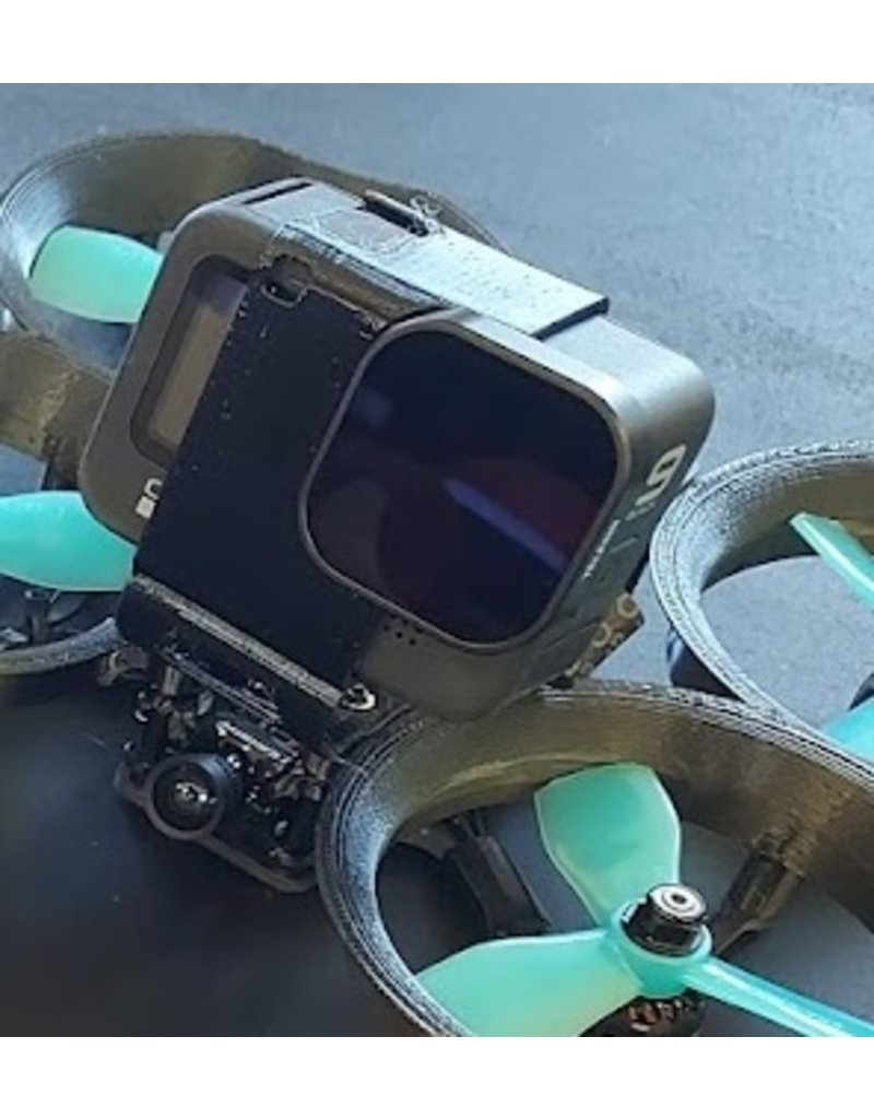 3D print Gopro Hero 9 gedempte houder voor Squirt, Geyser, Nutmeg