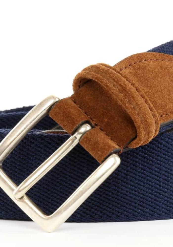 Anderson's Fabric Belt Navy