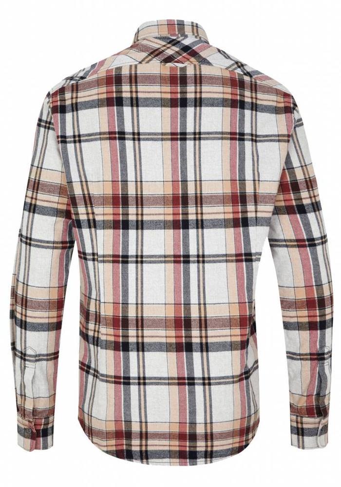 Drykorn Shirt Kolor Beige Checkered