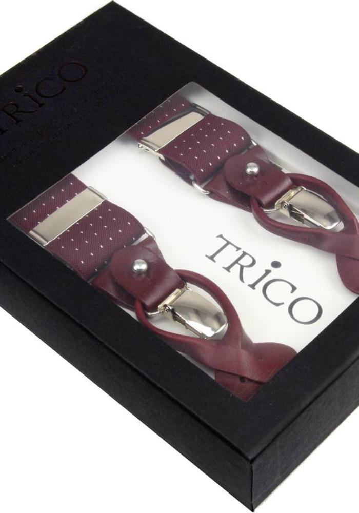 Trico Braces Bordeaux Red Dots