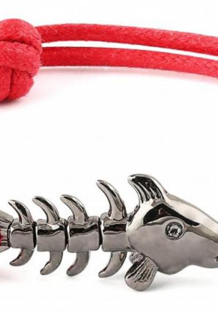 Thompson London Bracelet Skeleton Fish Red