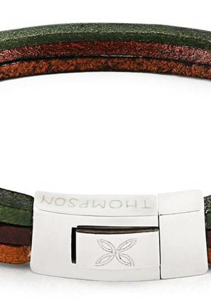 Thompson London Bracelet Trio Brown/Green L