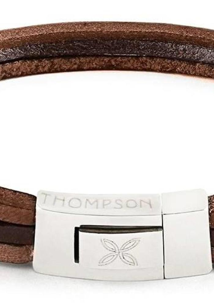 Thompson London Armband Trio Bruintinten M
