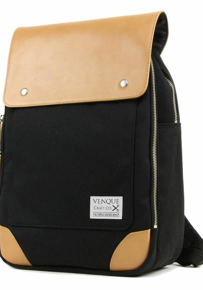 Venque Flat Mini Backpack Zwart