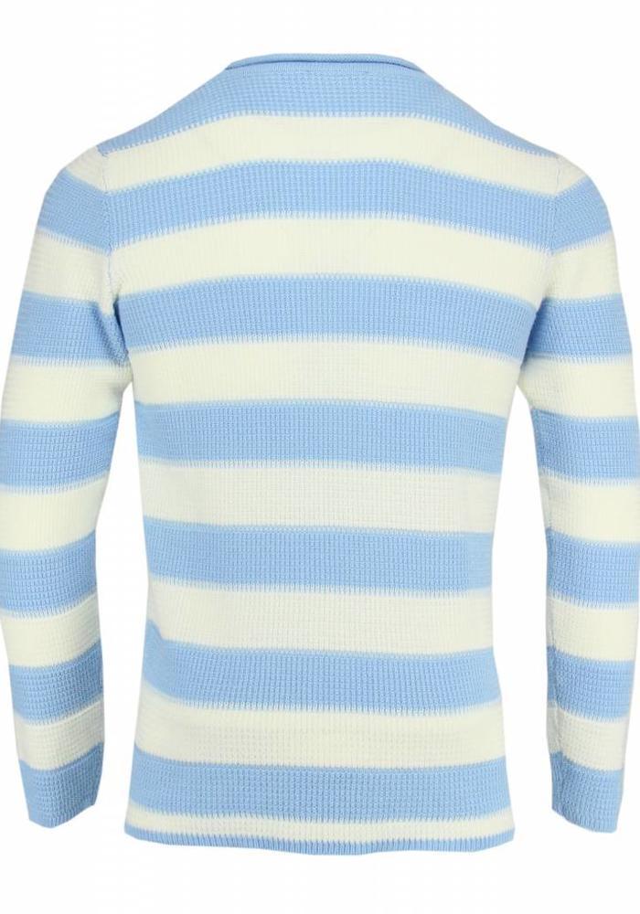 Daniele Alessandrini Jumper Striped Light Blue / Cream