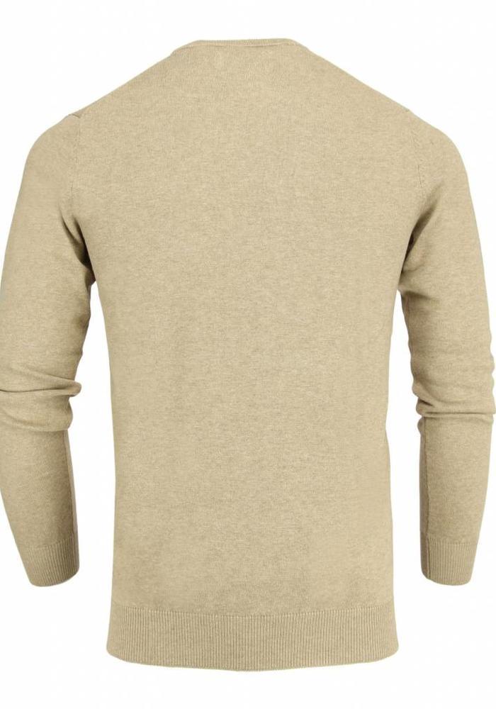 Les Deux Frères Basic Cotton Knit Light Beige Pullover