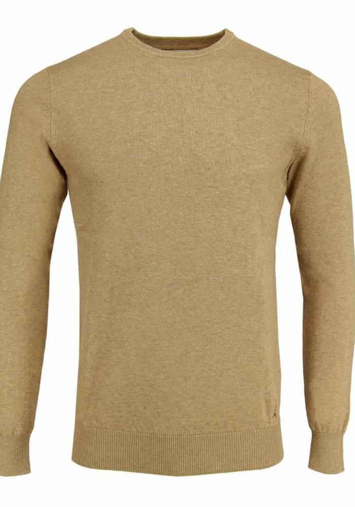 Les Deux Frères Basic Cotton Knit Camel Pullover
