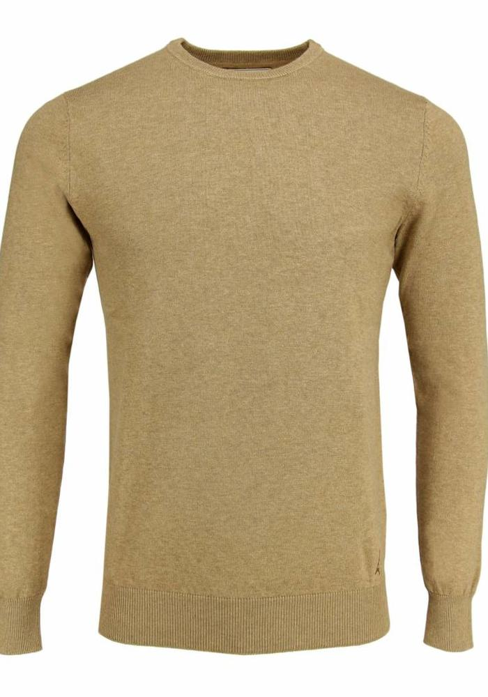 Les Deux Frères Basic Cotton Knit Camel Trui