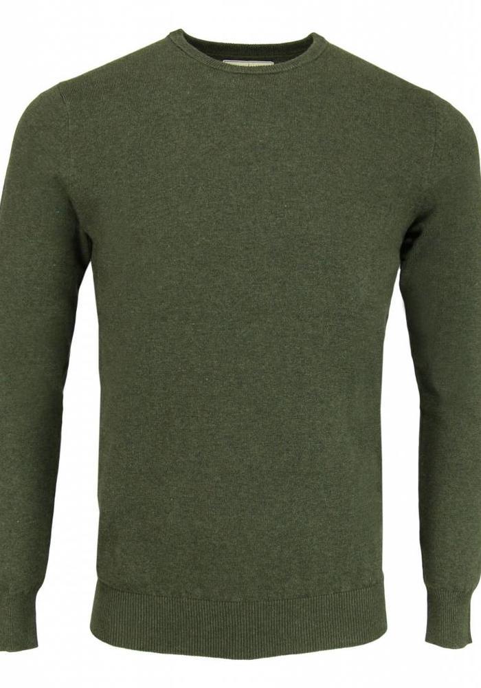 Les Deux Frères Basic Cotton Knit  Army Pullover