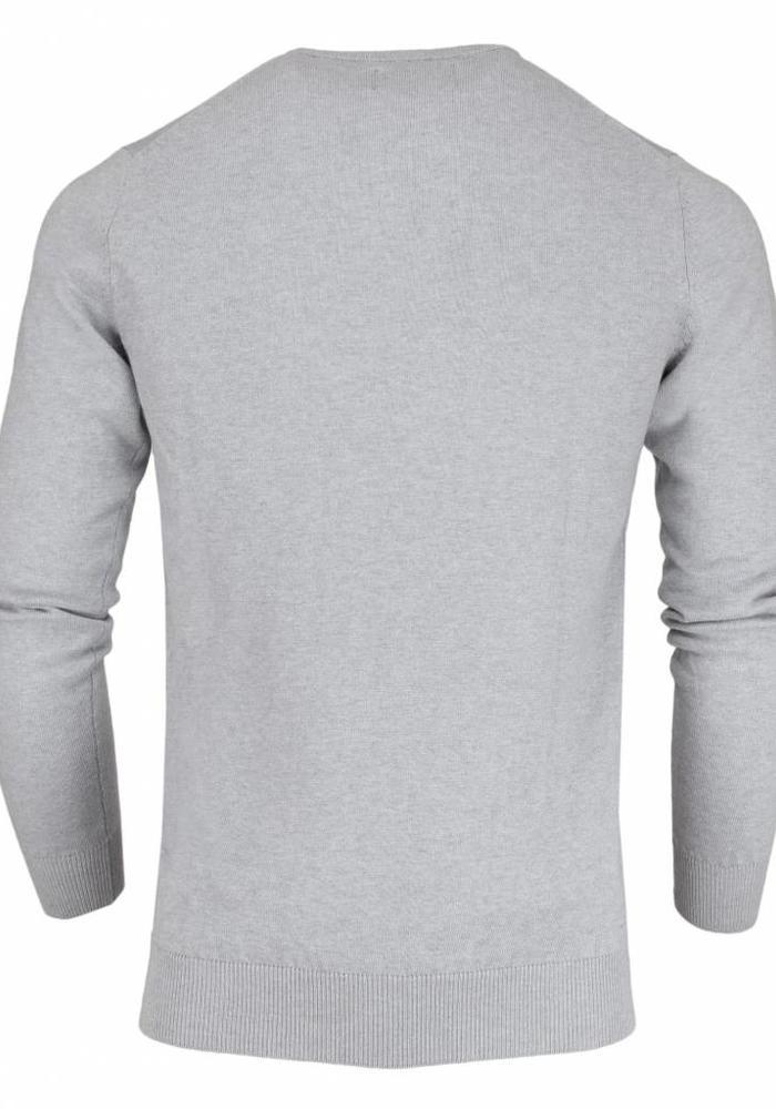 Les Deux Frères Basic Cotton Knit Grijze Trui