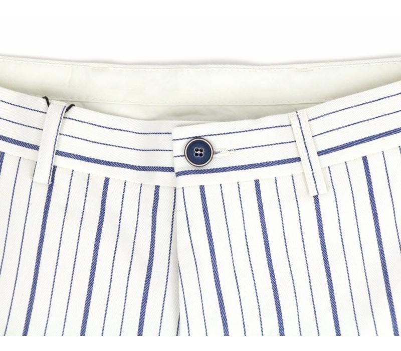 Bertoni Shorts Beck Wit/Blauw Gestreept