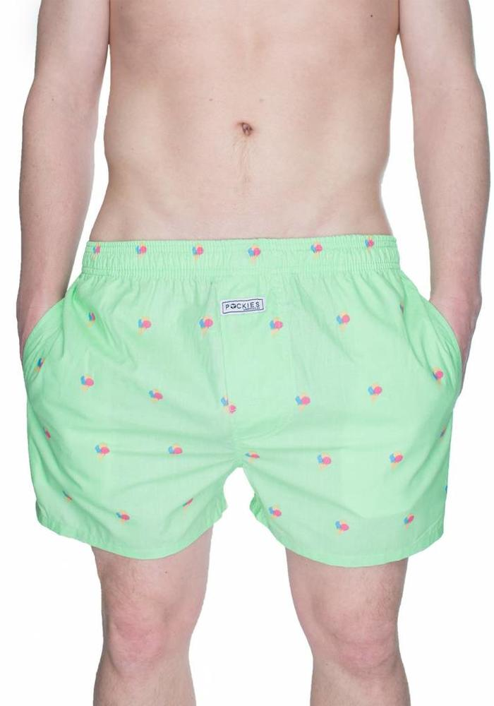 Pockies Underwear Boxer Ice Cones Mint