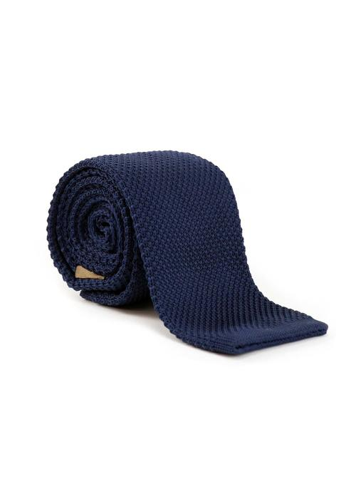 Les Deux Frères Tie Knitted Navy