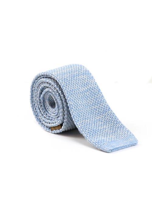 Les Deux Frères Tie Knitted Light Blue