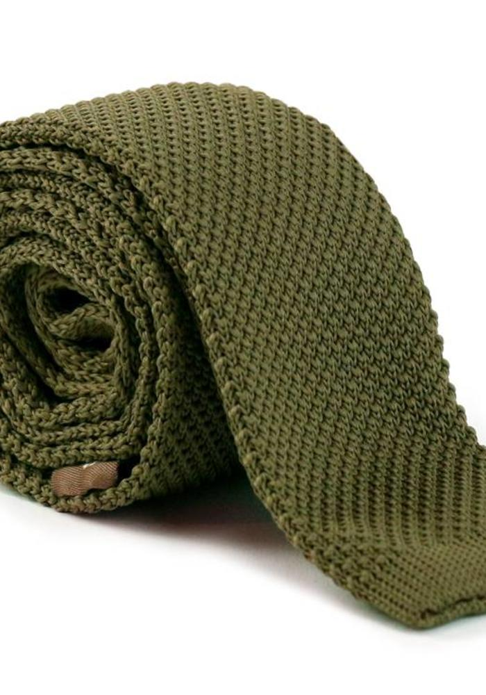 Les Deux Frères Tie Knitted Green