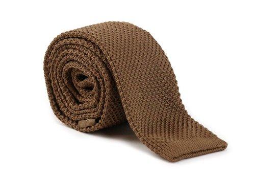 Les Deux Frères Tie Knitted Brown