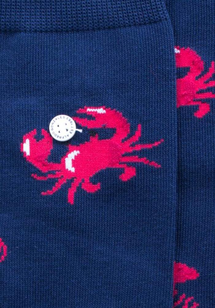 Alfredo Gonzales Socks Sea Critters Navy