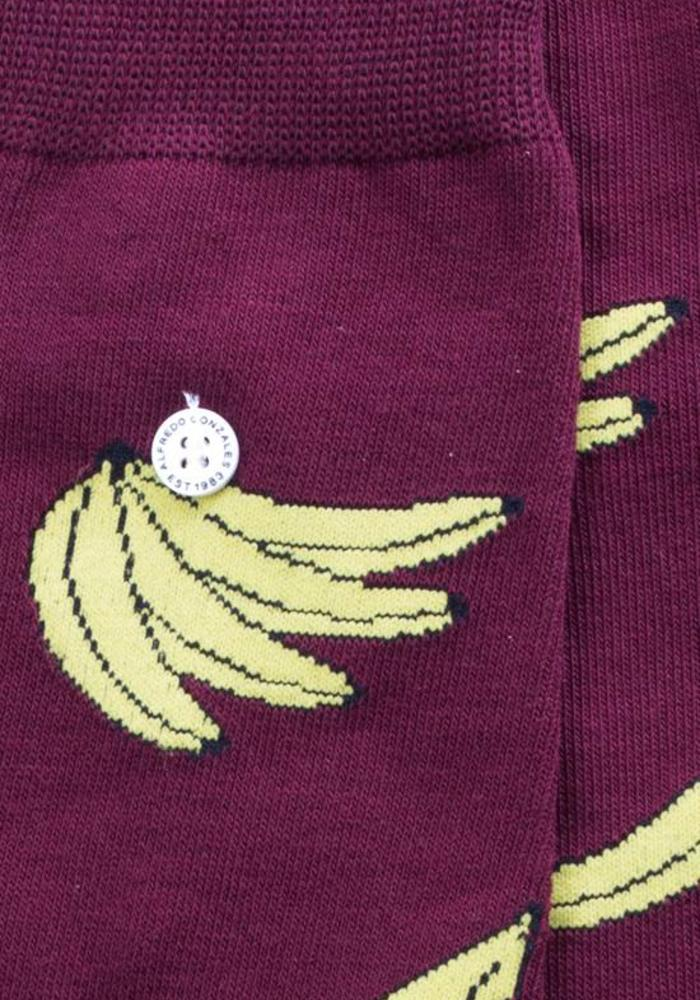Alfredo Gonzales Socks Bananas Bordeaux red