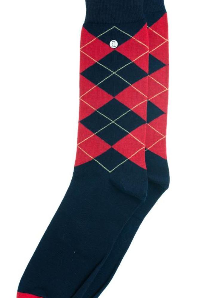 Alfredo Gonzales Socks Wall Street Rood