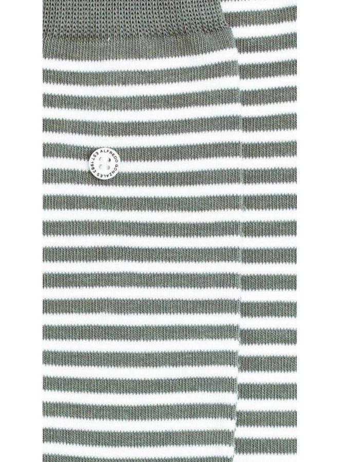 Alfredo Gonzales Socks Stripes Grijs/Wit