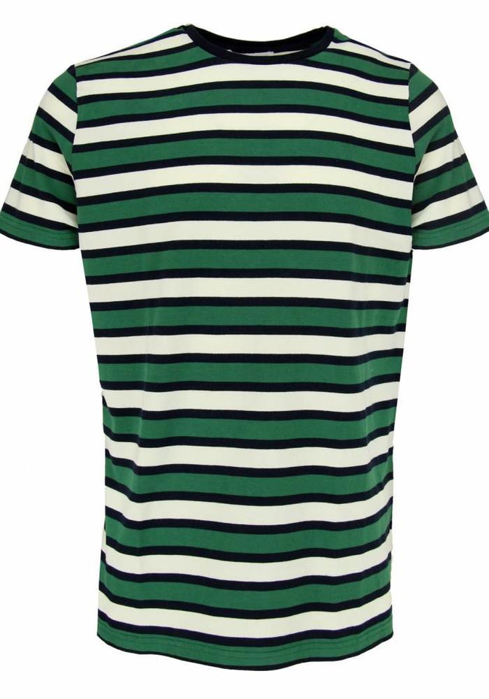 45 30 T-Shirt Louise Groen/Navy Gestreept