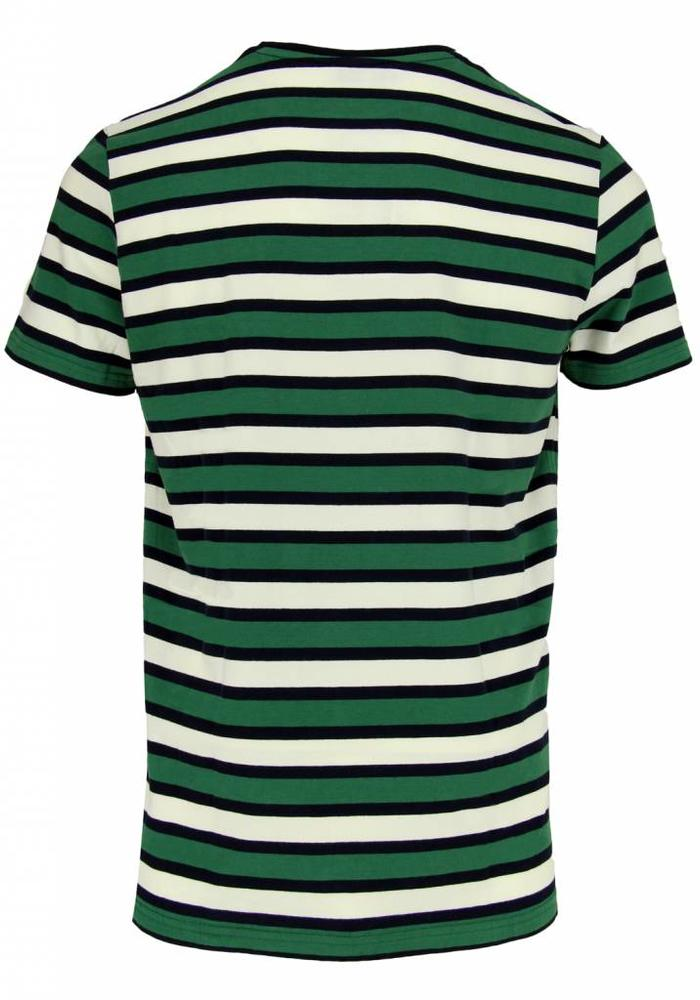 45 30 T-Shirt Louise Green / Navy Striped