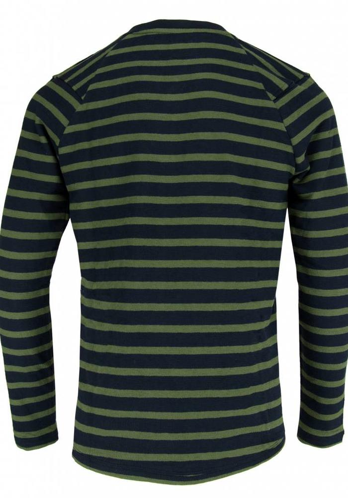The Goodpeople Sweater Stall Turn Navy / Green