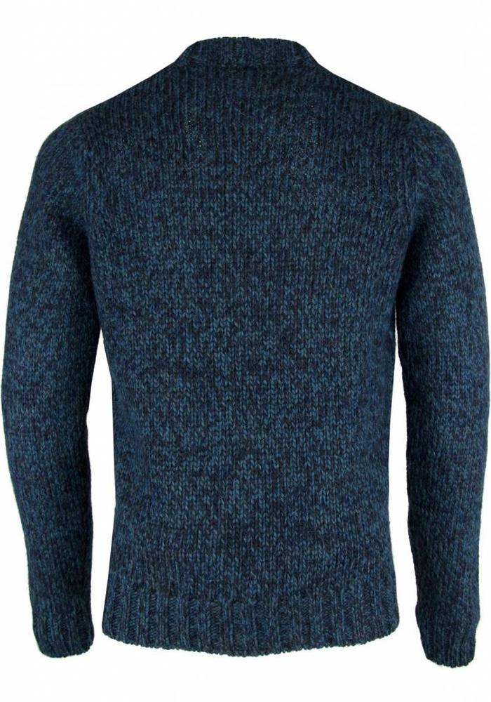 Wool & Co. Trui WO 4230 Petrol Melange