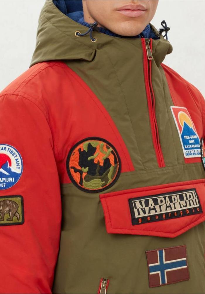 Napapijri Jacket Rainforest Pocket Multi Patch