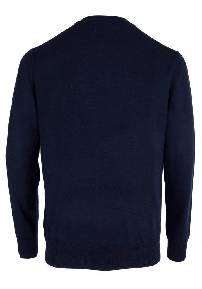 Les Deux Frères Essentials Merino Pullover Navy