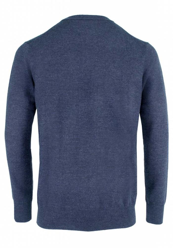 Les Deux Frères Essentials Merino Sweater Dark Denim