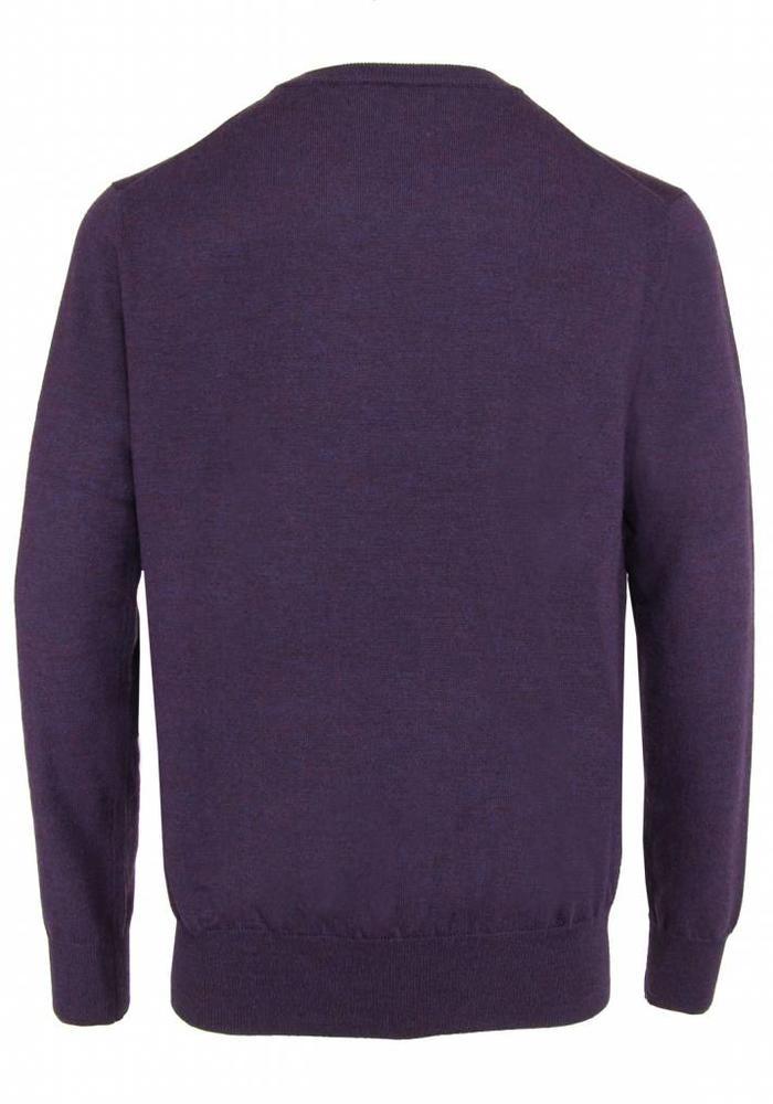 Les Deux Frères Essentials Merino Pullover Royal Purple