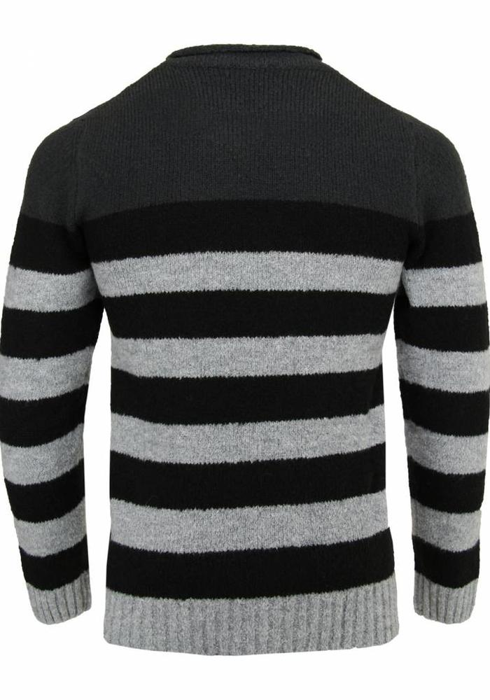 Daniele Alessandrini Sweater Meridiani Gray Striped