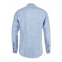 Blue de Genes Overhemd Bacco Matricard Herringbone Blue