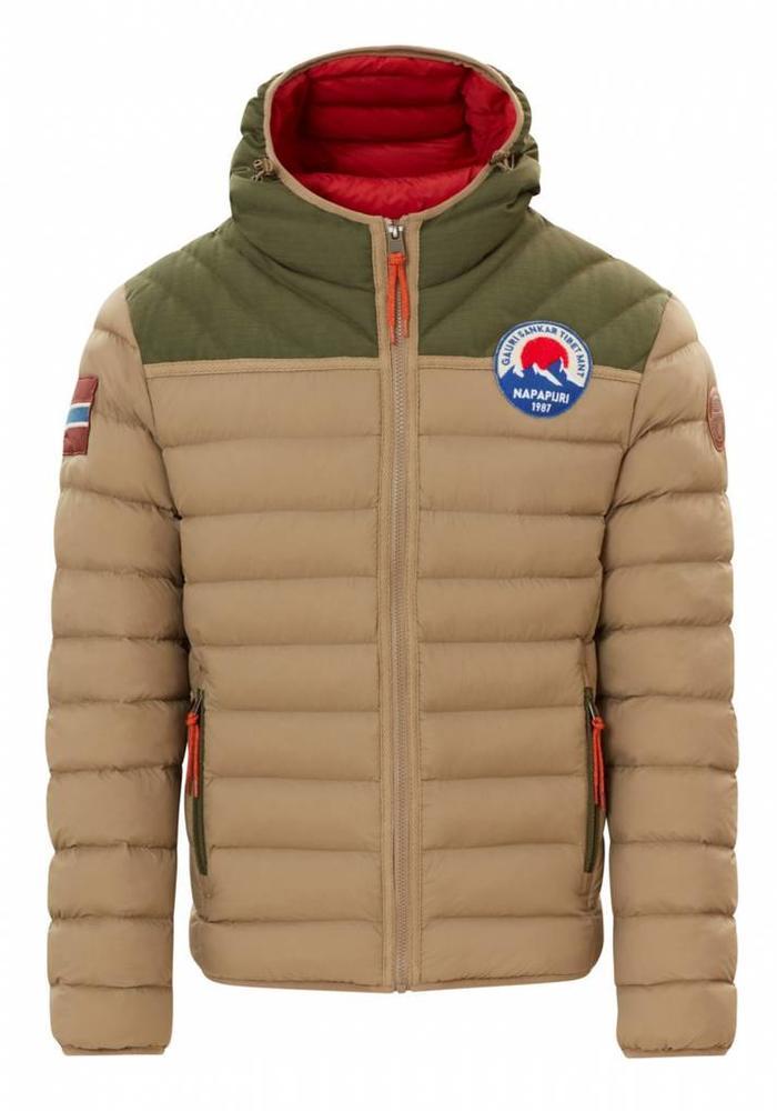Napapijri Puffer Jacket Articage Green / Beige