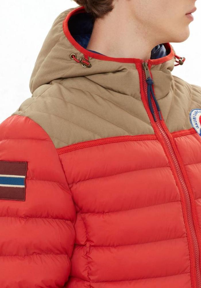 Napapijri Winterjas Articage Oranjerood/Beige