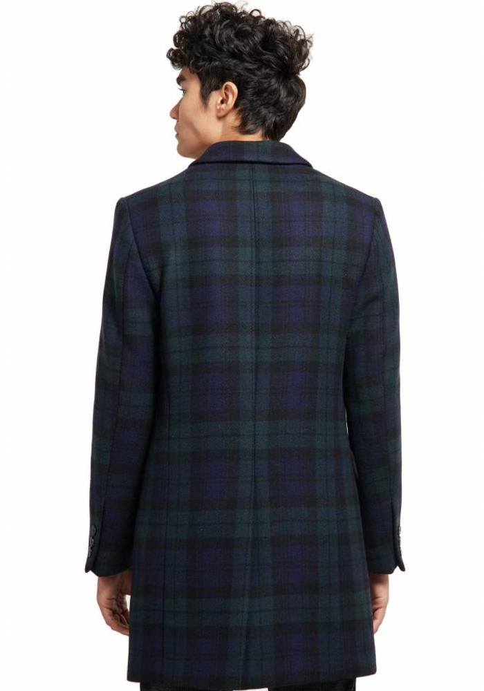 Drykorn Coat Blacot Tartan Blue / Green