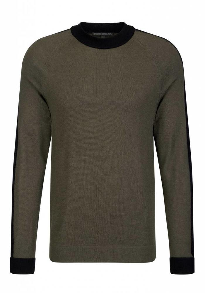 Drykorn Knitwear Luan Green / Black