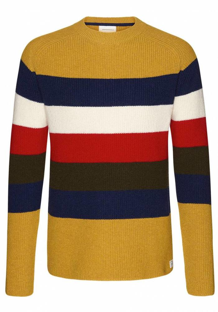 Armedangels Trui Benno Stripes Multicolor