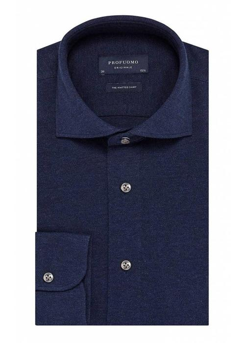 Profuomo Profuomo Overhemd The Knitted Navy