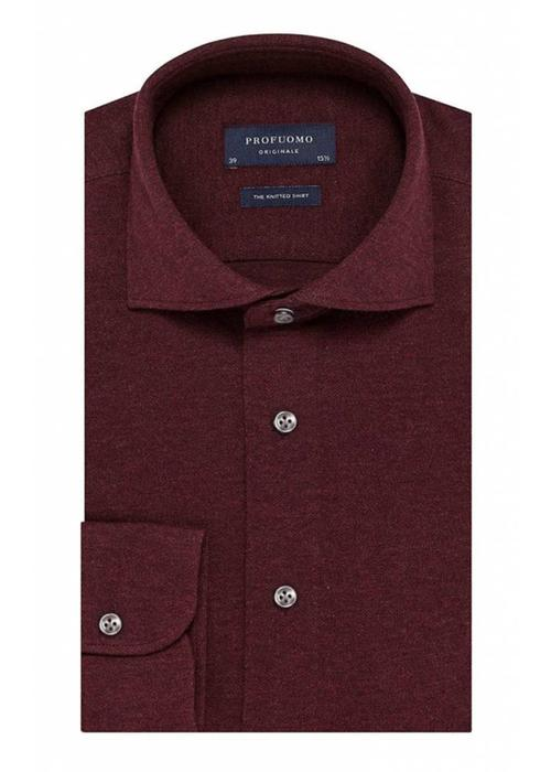 Profuomo Profuomo Overhemd The Knitted Bordeaux