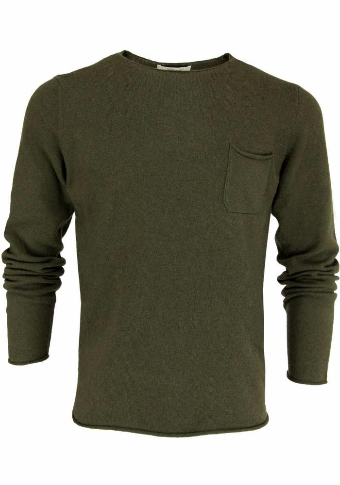 Wool & Co. Knitwear Pullover WO 0045 Army Green